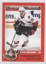 2010 Binghamton Senators Team Issue COGR Colin Greening (AHL) Rookie Hockey Card