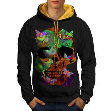 Skull Head Sugar Art Men Contrast Hoodie NEW   Wellcoda