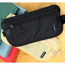 Anti Theft Waterproof Travel Card Money Belt Hidden Waist Bag Phone Holder Black