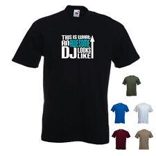 """""""esto es lo que un increíble DJ se ve como 'rapero Regalo Cumpleaños Navidad Gracioso Camiseta"""