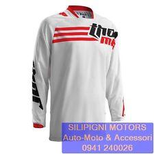 Jersey THOR S6 PHASE STRAND WHITE/RED Maglia Gara Moto Cross Enduro Off Road