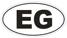 EG Egypt Oval Bumper Sticker or Helmet Sticker D2049 Country Code