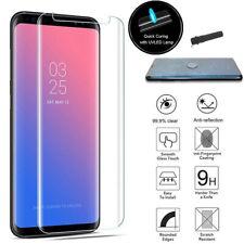 For Samsung S8 9 Note 9 Nano Liquid UV Full Glue Tempered Glass Screen Protector