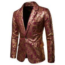 32b9fdd851b15 Ethni Floral Mens Leisure Formal Slim Fit Coat Jackets Fashion One Botton  Tops