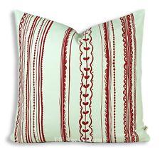 Ikea vinatero a rayas rojo blanco cubierta Cojín Decorativo Almohadón de dispersión