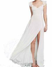 NEW AMAZING LONDON JOHN ZACK IVORY MAXI FOR WEDDINGS DRESS WITH SPLIT SKIRT SECT
