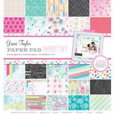 "Grace Taylor Sherbet Sky 12"" x 12"" paper pad - scrapbooking - card craft"