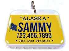 Alaska Car License Plate Pet ID Tags custom