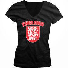 England Crest - Country Nationality Pride Juniors V-neck T-shirt