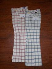 Kids 70s Original MANN Iron Pants Red/Blue Checkered Plaid 11 Regular Boys Girls