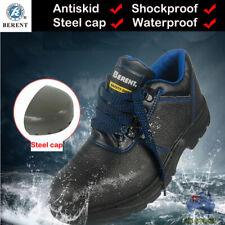 Mens Heavy Duty Antiskid Waterproof Safety Work Boots Shoes Steel Toecap Runner