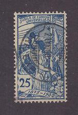 Switzerland Sc 100 used 1900 25c blue UPU Allegory, Almost VF