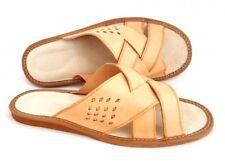 Sandale Cuir Homme Chausson Pantoufle Mule Confortable Naturel Taille 40 au 47