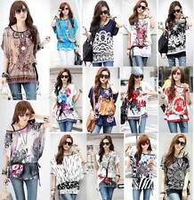 Ladies Kaftan Tunic T-shirt Blouse Top T Shirt Tee Mini Dress Exotic 8-18 14 16
