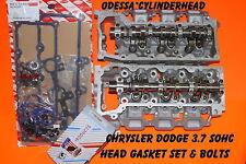 2 JEEP LIBERTY DODGE DURANGO DAKOTA 3.7 SOHC CYLINDER HEADS GASKETS&BOLTS REMAN