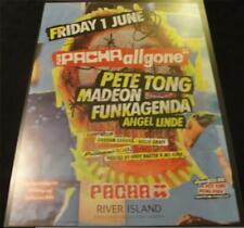 ALL GONE PETE TONG @ PACHA - IBIZA CLUB POSTERS - 2012 HOUSE MUSIC DJ RADIO 1