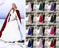 Adult Winter Warm Christmas Long Wedding Cloak Cape White Faux Fur Cape