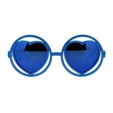 Girl's Fashion Sunglasses Heart Inside Round Circle Frame Cute Shades