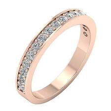 VVS1 F Natural Diamond Engagement Wedding Ring 0.75Ct 14K White Yellow Rose Gold