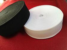2m - WOVEN ELASTIC TAPE (12.7mm 19mm 25mm 32mm 38mm)