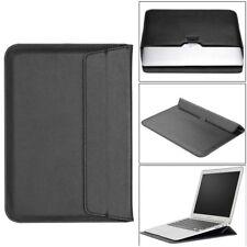 "For 13"" 13.3"" Macbook Laptop Ultrabook Slim Leather Sleeve Bag Case Cover Black"