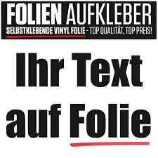 Aufkleber Ihr Text auf Folie nach Wunsch für Schaufenster Beschriftung Modellbau