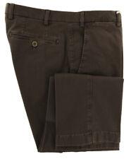 New $400 Luigi Borrelli Brown Solid Pants - Slim - (P131066)