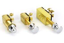 12V Culver Drucktaster oder Zugschalter Messing verchromt, 12 Volt Schalter