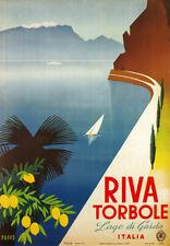 TV03 Vintage 1950's ITALIA RIVA TORBOLE Lago Garda Italiano viaggio POSTER A4