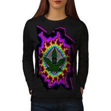 Rasta Weed Psychedelic Women Long Sleeve T-shirt NEW | Wellcoda