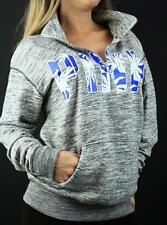 Victoria's Secret PINK Sweatshirt Half Zip Mockneck Boyfriend Palm Pullover NWT