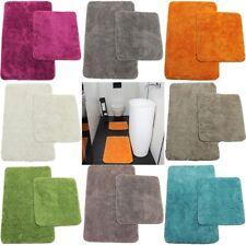 Scendibagno Set 50x80+45x50cm Tappeto WC tappetino bagno da