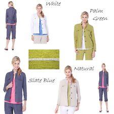 "Sigrid Olsen Studio ""Rustica"" Laundered Linen Jacket 409090-J"