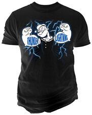 Popeye Thunder & Lightning Adult T-Shirt - Official cartoon Comics Tee