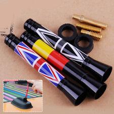 "3"" Union Jack UK German Flag Car Short Antenna for Mini Cooper R55 R56 R60 Screw"