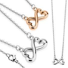 Halskette INFINITY silber Edelstahl Unendlichkeitszeichen Symbol Anhänger Ketten