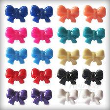 Little Bow, Bowknot Orecchini. Carino & Kitsch. molti colori disponibili