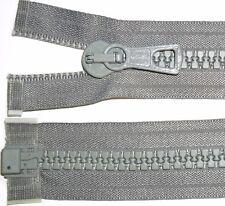 """Saumon Coho les fermetures à glissière gris Chunky Dents Plastique Bout Ouvert, Engourdir 8 Heavy Duty, Taille 24"""" à 30"""""""