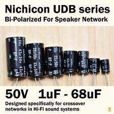 Nichicon UDB Bi-Polarized 1uF-68uF for Speaker Network Audio Bipolar Capacitors