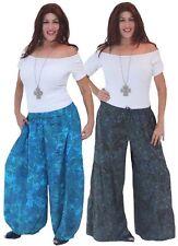 Pants rayon batik misses plus lagenlook womens M L XL 1X 2X 3X 4X 5X ONE SIZE
