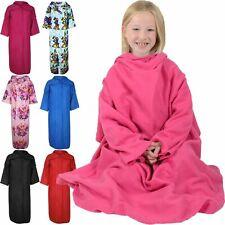 Kids Girl Snuggie Winter Warm Sleeved Wrap Snug Snuggle Soft Cosy Cuddle Blanket