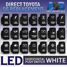 12V 3A Push Switches on-off LED White for Toyota Hilux Landcruiser Prado HiAce