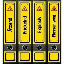 File Art 4 Design Ordner-Etiketten Danger Signs..............................081