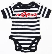 ANARCHY GRAFFITI Baby-Body schwarz/weiss gestreift
