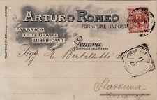 #GENOVA: testatina- ARTURO ROMEO- OLI E GRASSI LUBRIFICANTI