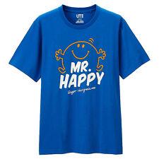 Uniqlo UT Man's Mr Men & Little Miss Mr Happy Blue short sleeve Tee  T-shirt