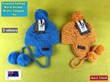 New Granmen Fashion Warm Knitted Winter Soft Pompom Hat Ski Cap (B12)