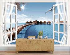 Charmant, Deep Blue Sea view 3D Voll Wandgemälde Foto Tapete Drucken Zuhause Dek