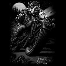 Funny T-Shirt Cats Suck Bulldog On Chopper Motorcycle Tee