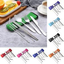 Picnic Tool Stainless Steel Cutlery Set Tableware Fork Spoon Chopsticks
